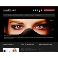 DarkDelight Free PSD Website Template