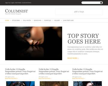 Columnist Free PSD Website Templateu