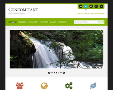 Concomitant Free PSD Website Template