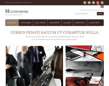 Multipurpose Free PSD Website Template