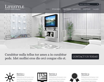 Lifestyle Free PSD Website Template