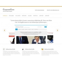CorporateClean Free PSD Website Template
