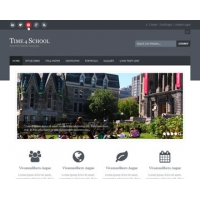 Time 4 School Free PSD Website Template