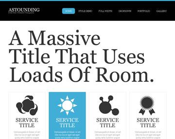 Astounding Free PSD Website Template
