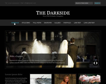 The Darkside Free PSD Website Template