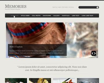 Memories Free PSD Website Template