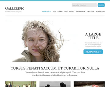 Gallerific Free PSD Website Template