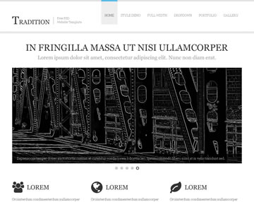 Tradition Free PSD Website Template