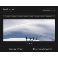 Pro Photo Free PSD Website Template