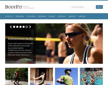 BodyFit Free PSD Website Template