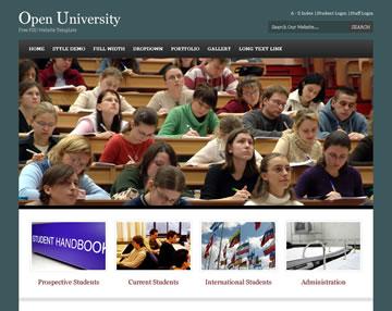 Open University Free PSD Website Template