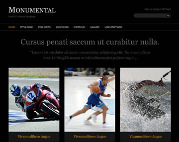 Monumental Free PSD Website Template