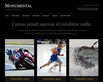 Monumental Free PSD Website Template