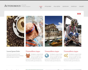 Autonomous Free PSD Website Template