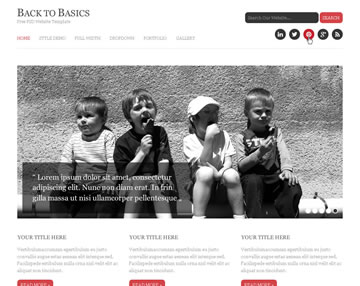Back To Basics Free PSD Website Template