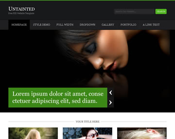 Untainted Free PSD Website Template