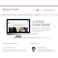 Slick & Classy Free PSD Website Template