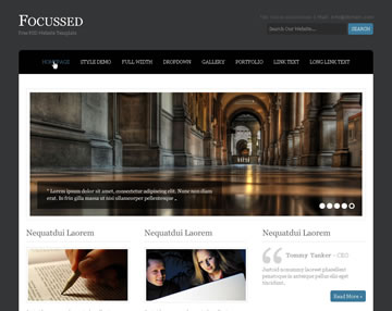 Focussed Free PSD Website Template