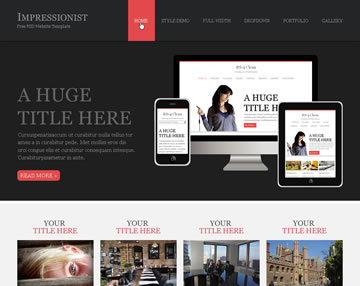 Impressionist Free PSD Website Template