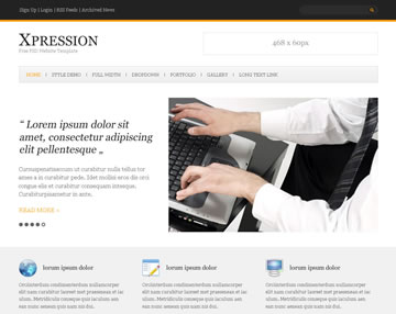 Xpression Free PSD Website Template
