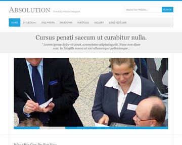 Absolution Free PSD Website Template