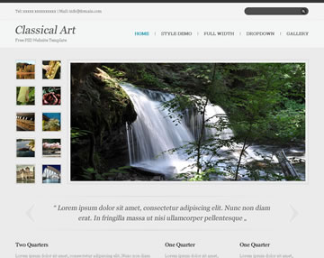 Classical Art Free PSD Website Template
