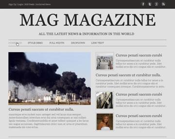 Mag Magazine Free PSD Website Template
