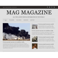 Mag Magazine Free PSD Website Template