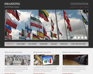 Smashing Free PSD Website Template