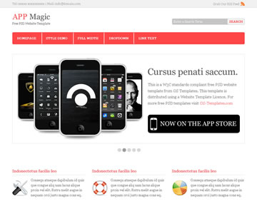 App Magic Free PSD Website Template
