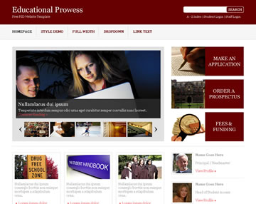 Educational Prowess Free PSD Website Template