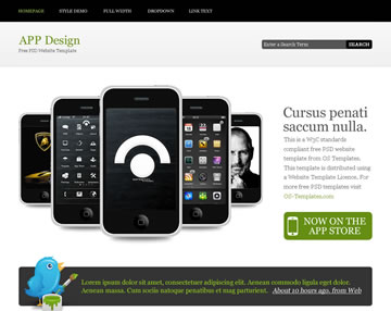 App Design Free PSD Website Template