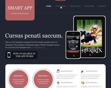 Smart App Free PSD Website Template