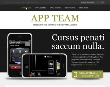 APP Team Free PSD Website Template