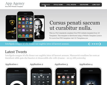 App Agency Free PSD Website Template