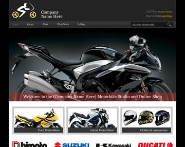 BikeShop Free PSD Website Template