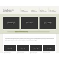 SimplElegance Free PSD Website Template