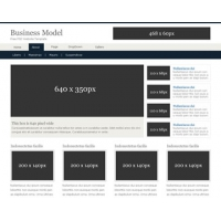 Business Model Free PSD Website Template
