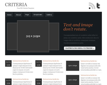 Criteria Free PSD Website Template
