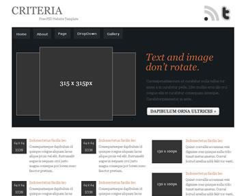 Criteria Free PSD Website Template