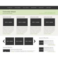 University School Free PSD Website Template