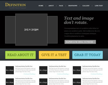 Definition Free PSD Website Template