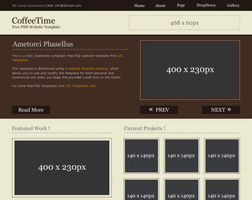 CoffeeTime Free PSD Website Template