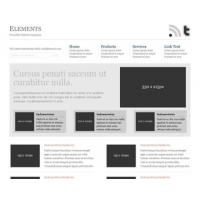 Elements Free PSD Website Template