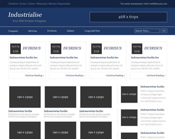 Industrialise Free PSD Website Template