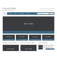 Universal College Free PSD Website Template
