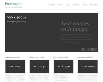 Provincial Free PSD Website Template