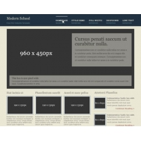 Modern School Free PSD Website Template