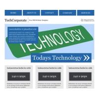 TechCorporate Free PSD Website Template