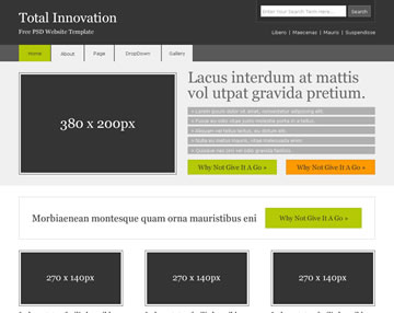 Total Innovation Free PSD Website Template